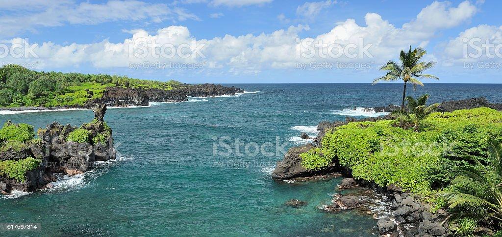 Maui coastline, Hawaii stock photo