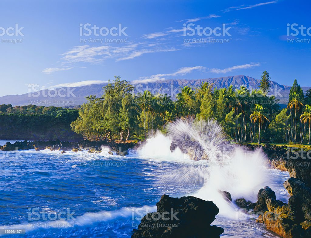 Maui coastline in Hawaii during the day royalty-free stock photo