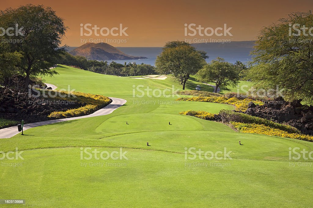 Maui Golf Scenic stock photo