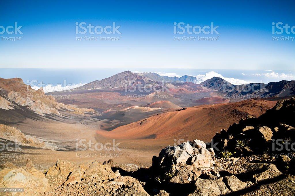 Maui Haleakala Volcanic Crater Lava Field stock photo