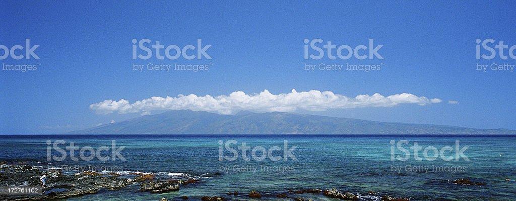 Maui Hawaii Beach ocean front resort hotel panorama royalty-free stock photo