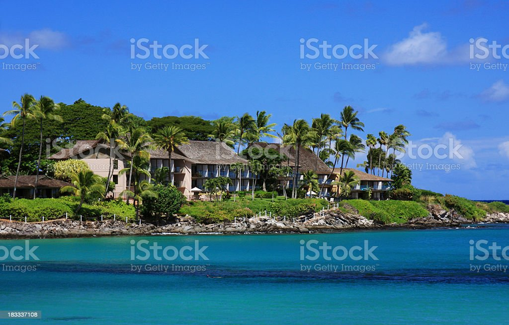 Maui Hawaii Beach Pacific ocean front resort royalty-free stock photo