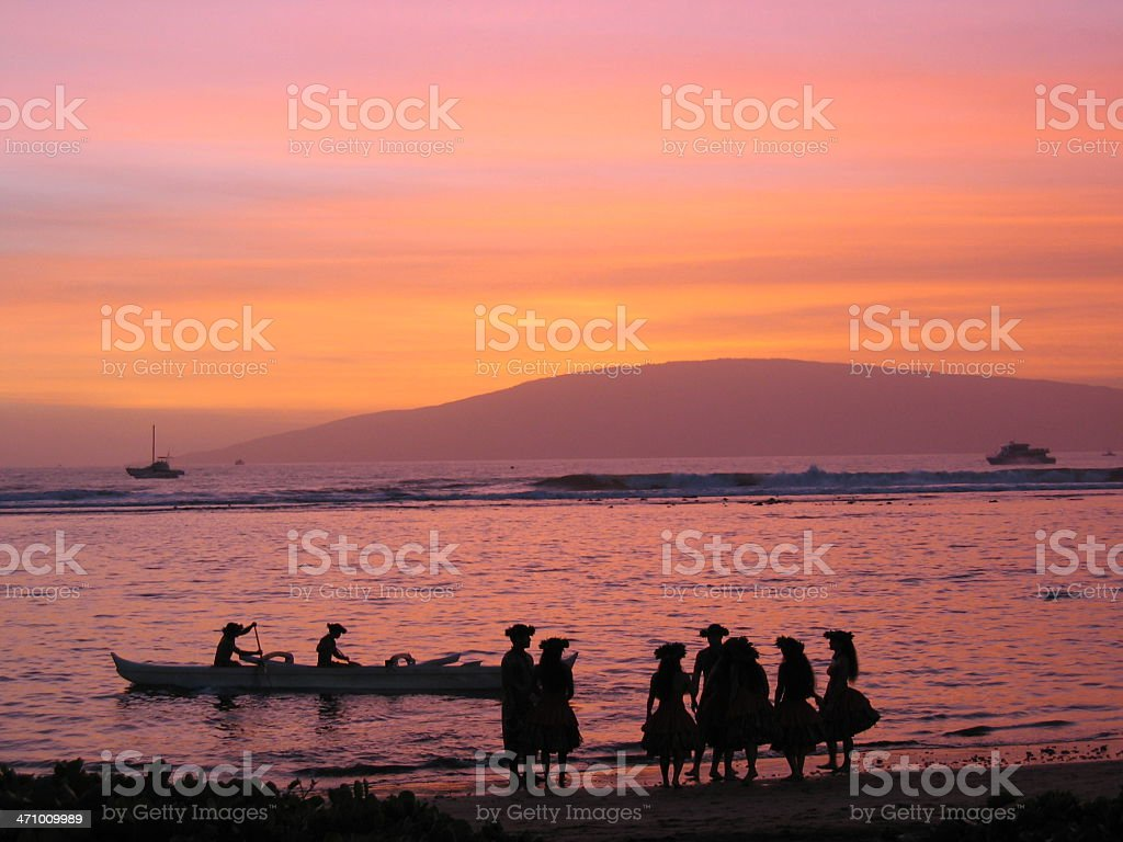 Maui Hawaii Luau royalty-free stock photo