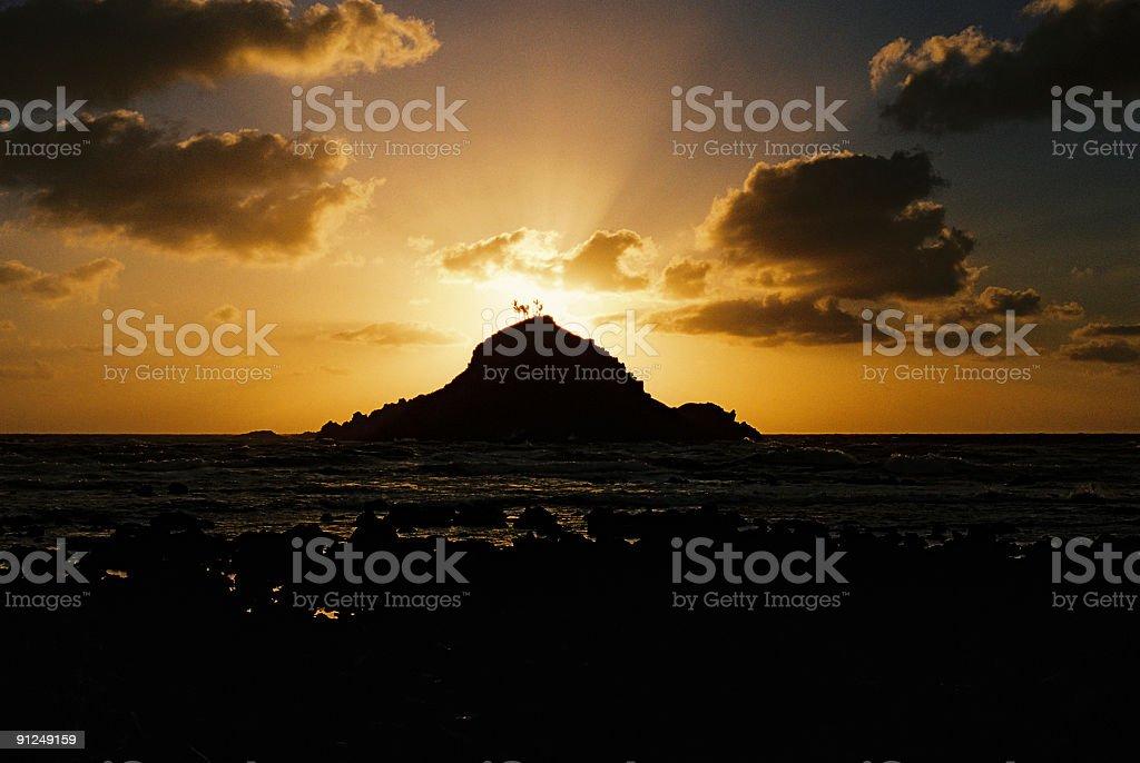 Maui Hawaii Pacific ocean island sunrise scenic royalty-free stock photo