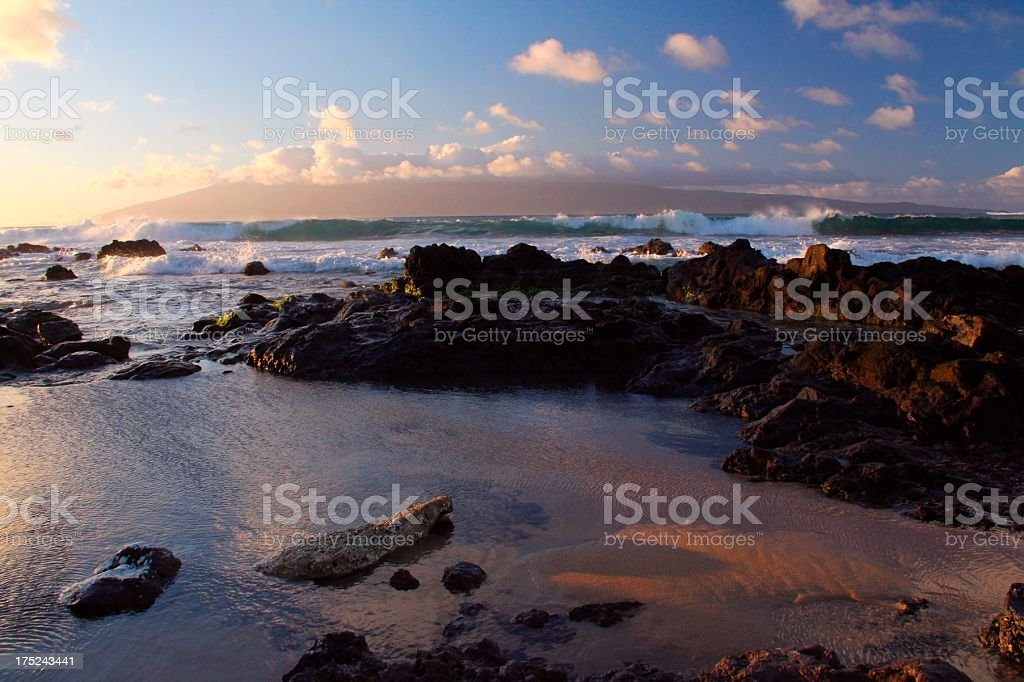 Maui Hawaii Pacific ocean sunset scenic royalty-free stock photo
