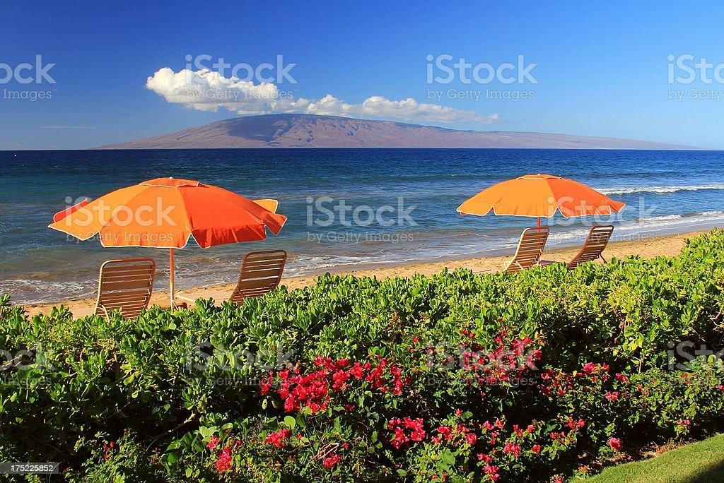 Maui Hawaii resort hotel Pacific ocean scenic stock photo
