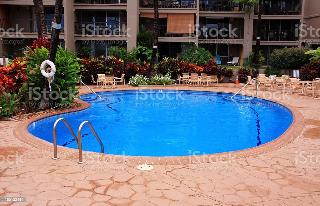 Maui Hawaii resort hotel swimming pool royalty-free stock photo