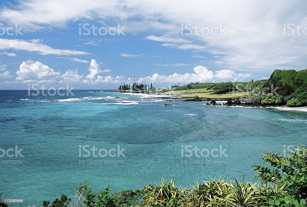 Maui Hawaii turquoise swim snorkel bay stock photo