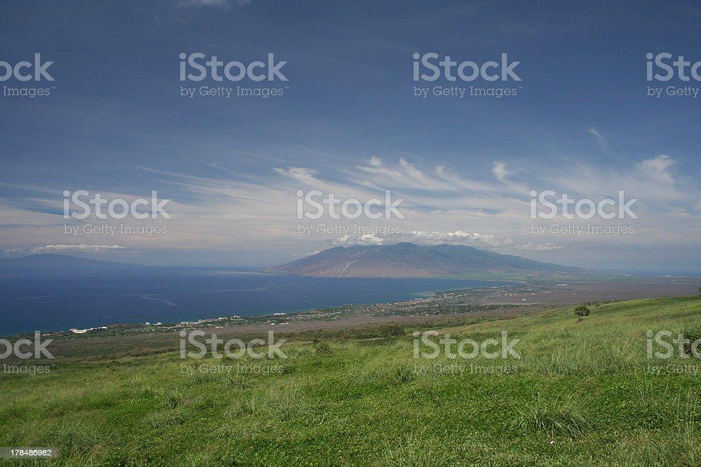 Maui Hawaii Upcountry Landscape stock photo