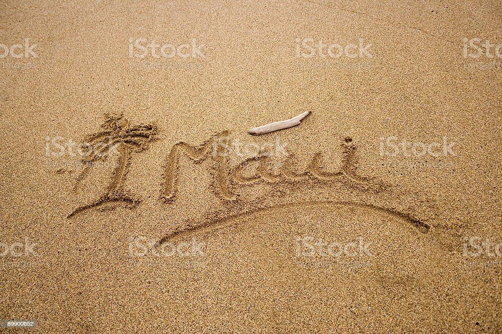 Maui sand royalty-free stock photo