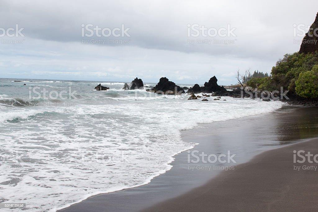 Maui Shore and Ocean stock photo
