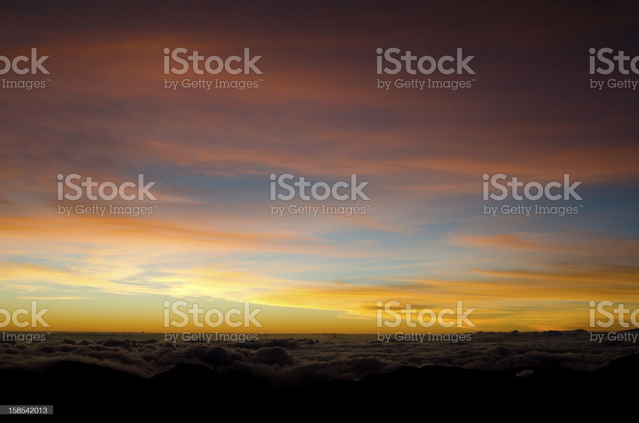 Maui sunrise royalty-free stock photo