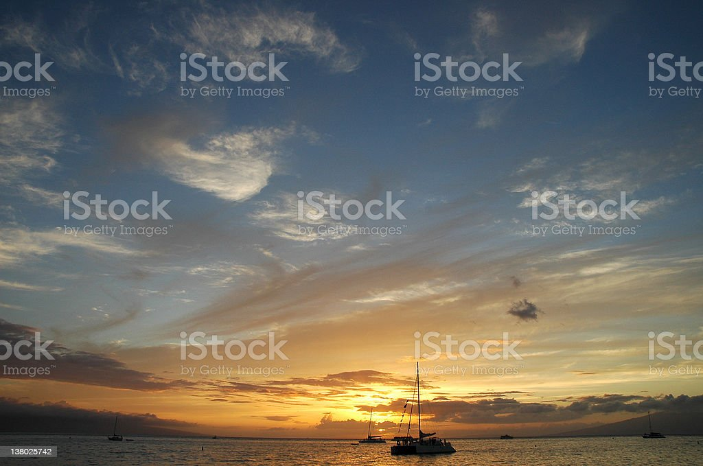Maui Sunset II royalty-free stock photo