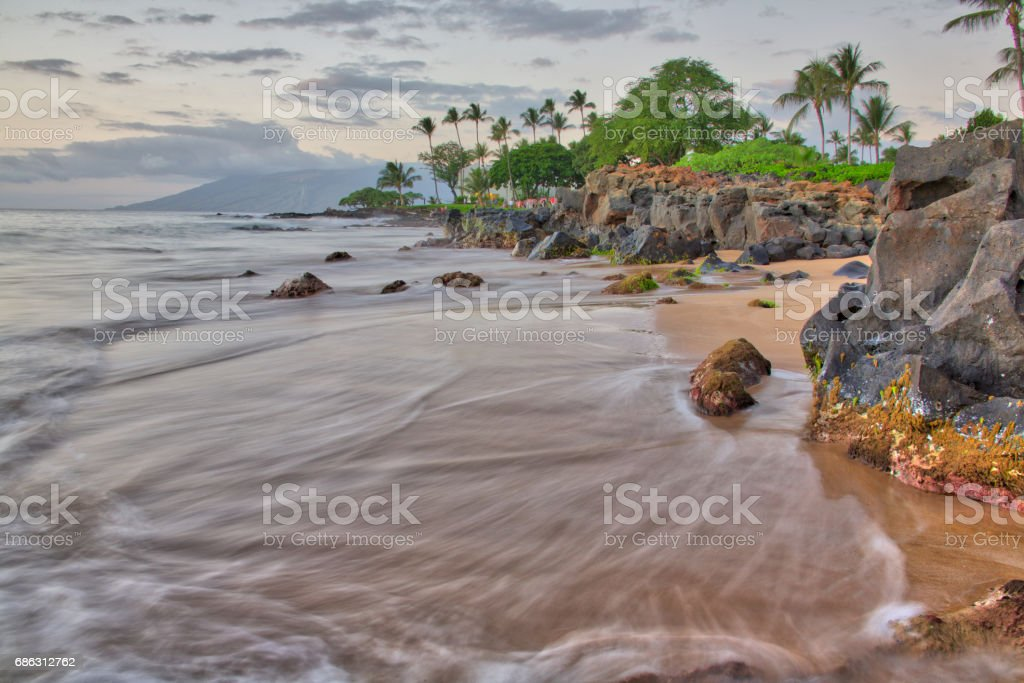 Maui sunset stock photo