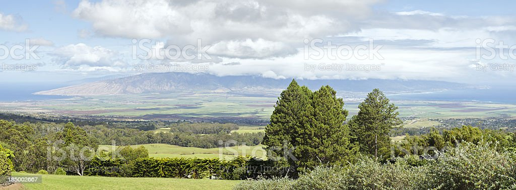 Maui upcountry and West-Maui panorama, Hawaii stock photo
