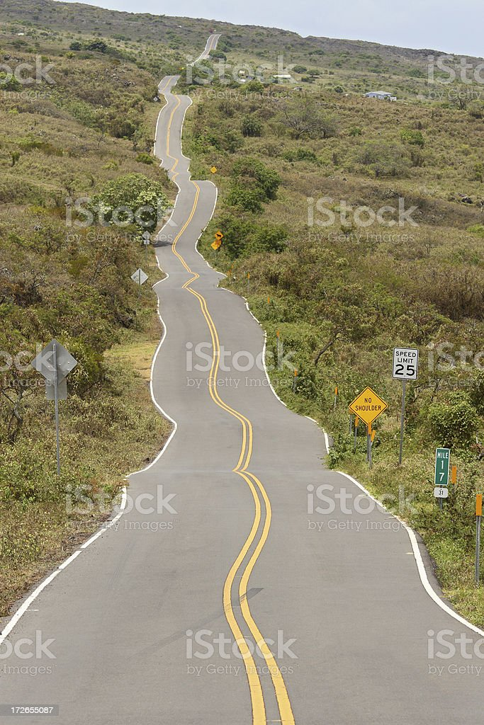 Maui Upcountry Road stock photo