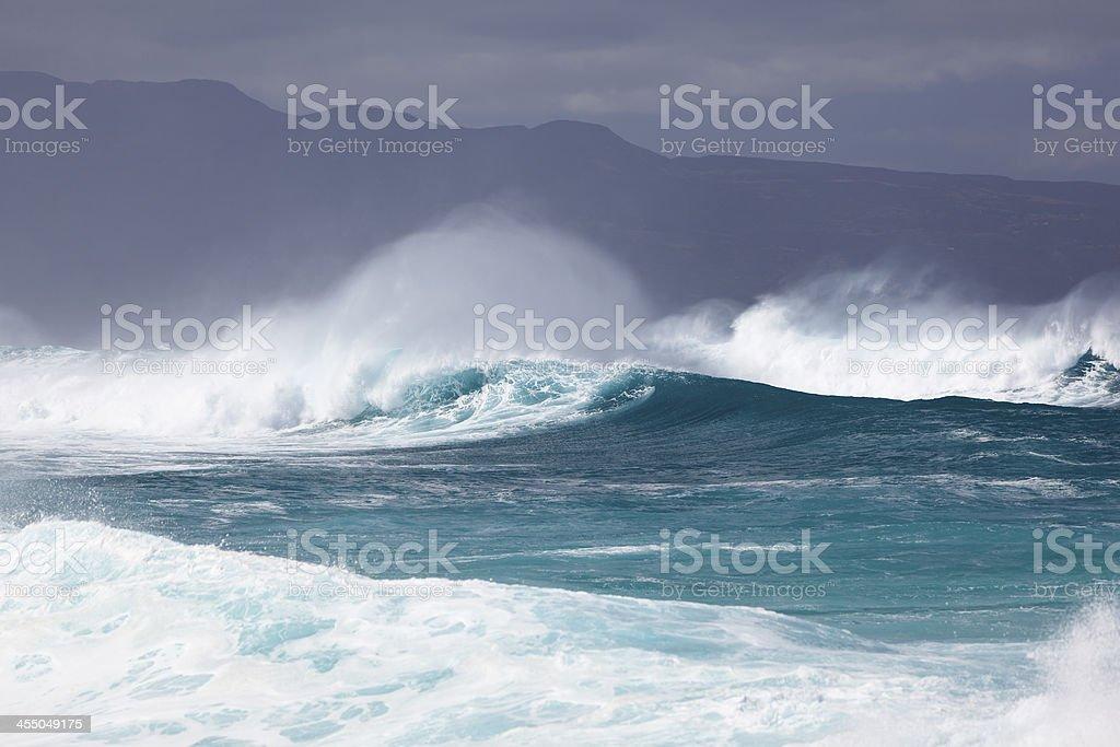 Maui Winter Surf stock photo