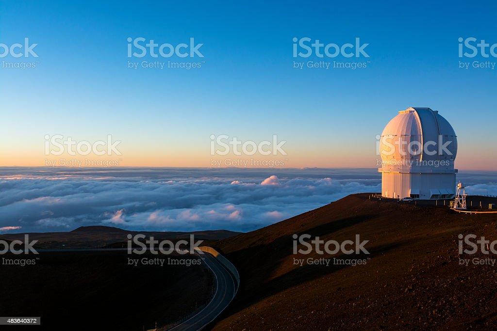 Mauna Kea Observatory stock photo