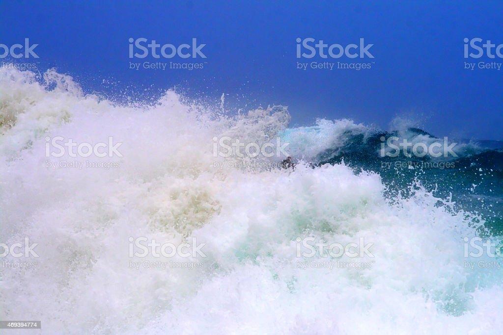 Maunalua Bay, Oahu, Hawaii stock photo