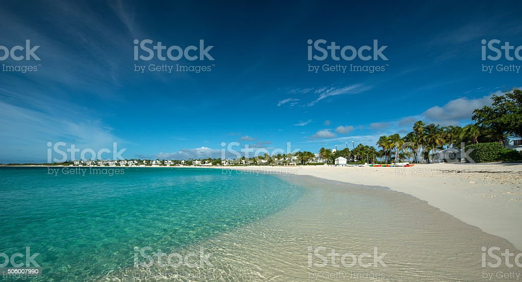 Maundays Bay, Anguilla, English West Indies stock photo