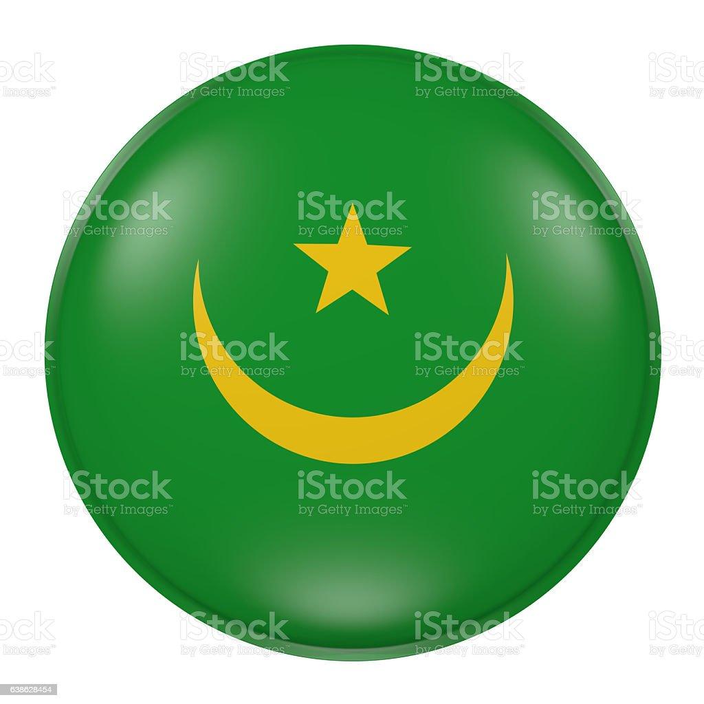 Mauritania button on white background stock photo