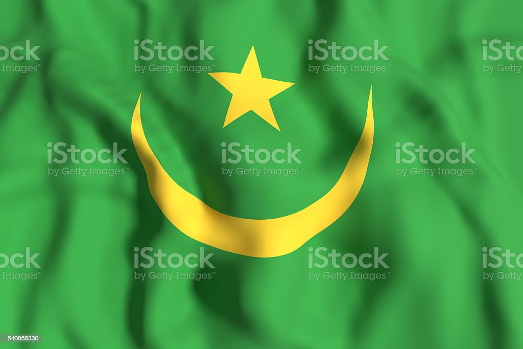 Mauritania flag waving stock photo