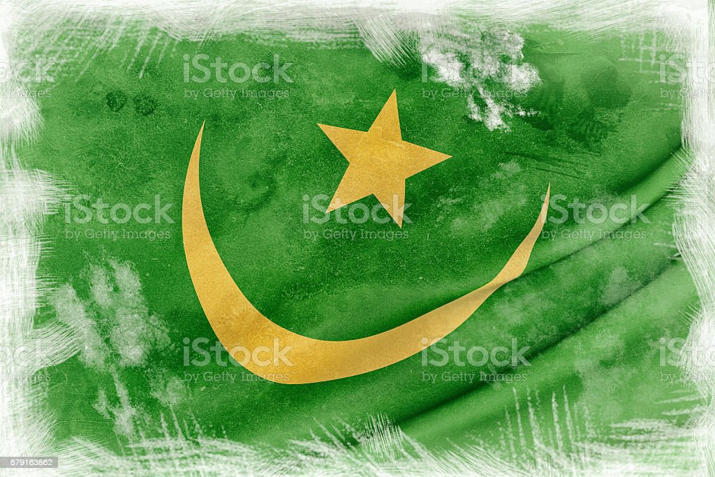 Mauritania flag waving stock photo