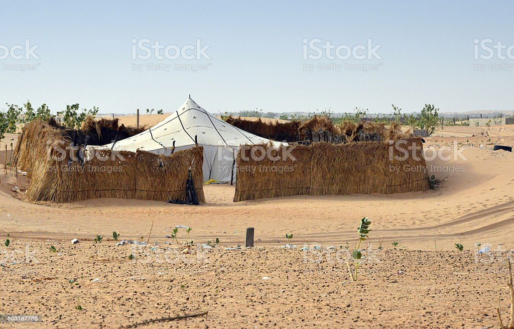 Mauritania: khaima tent stock photo