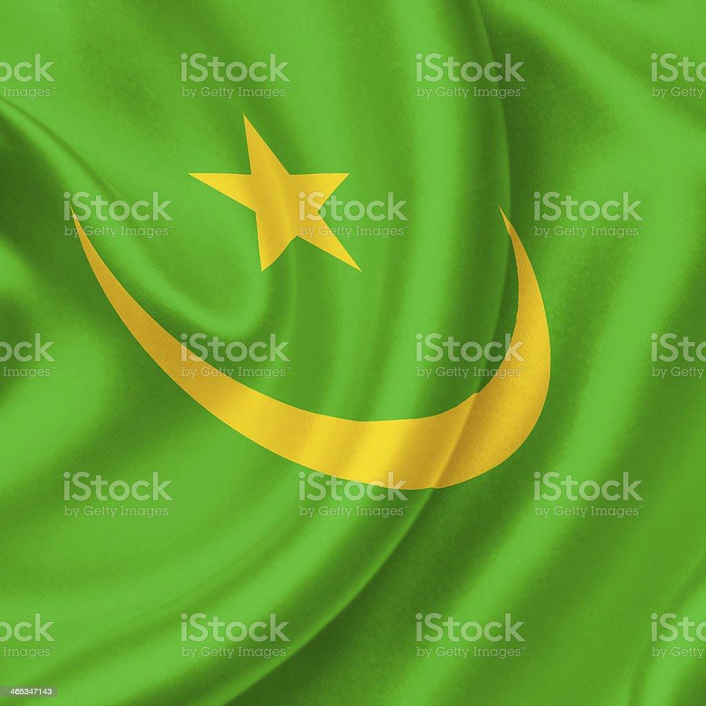 Mauritania waving flag stock photo
