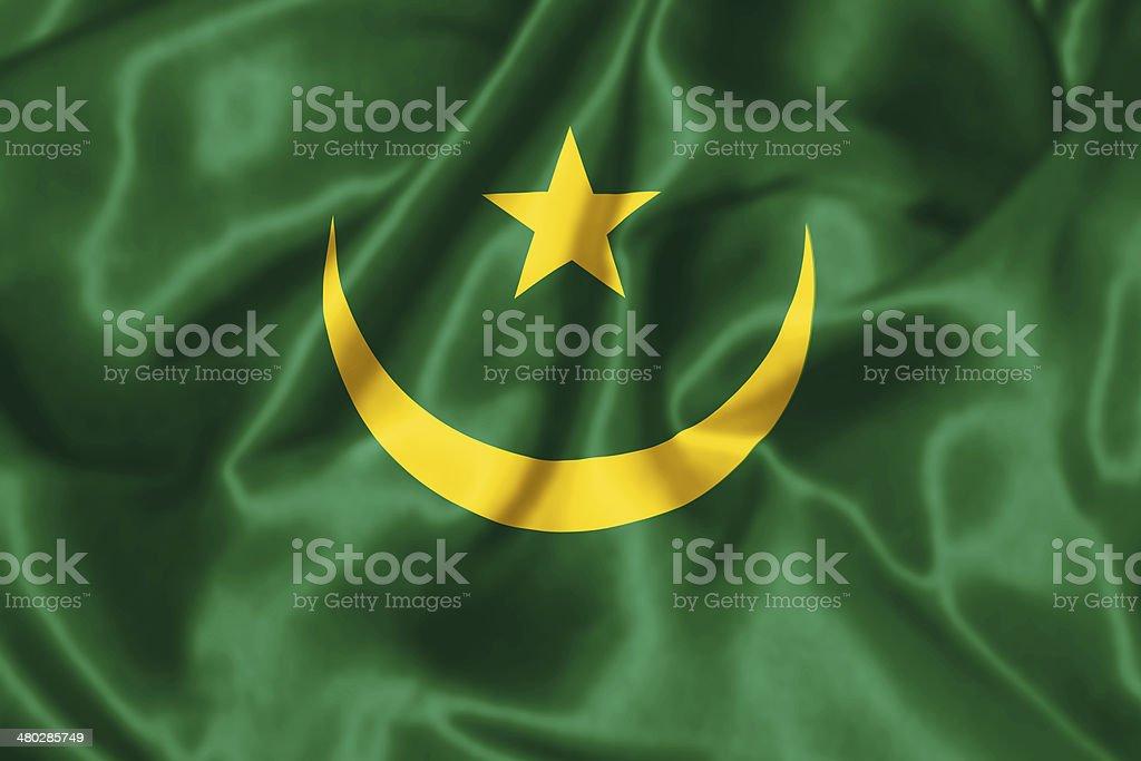 Mauritanian Flag. stock photo
