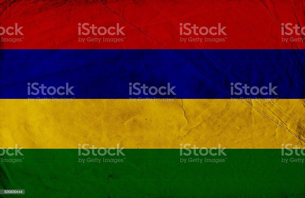 Mauritius grunge flag stock photo