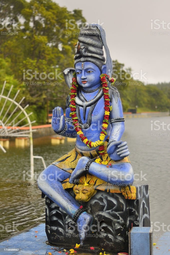 Mauritius Shiva On Tiger stock photo