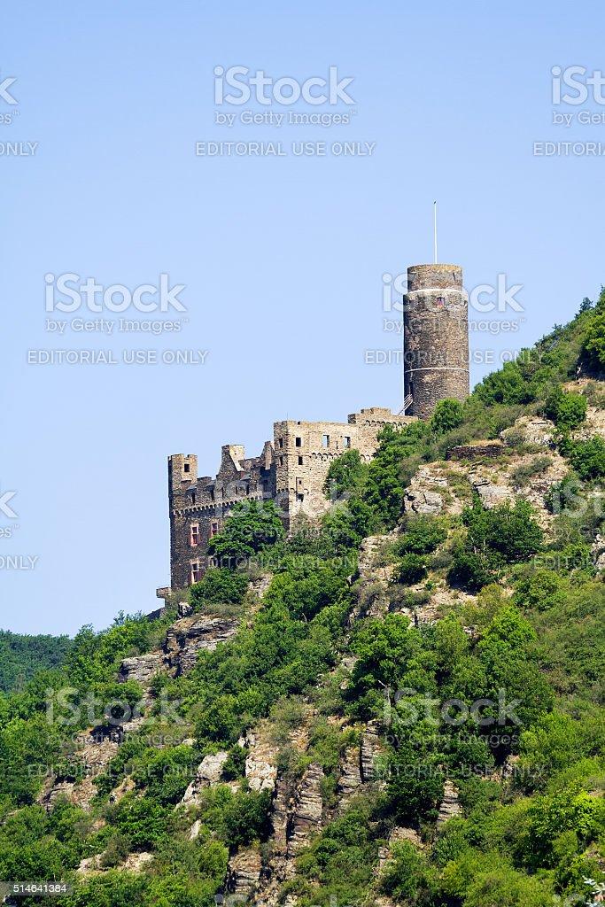 Maus castle at Loreley stock photo