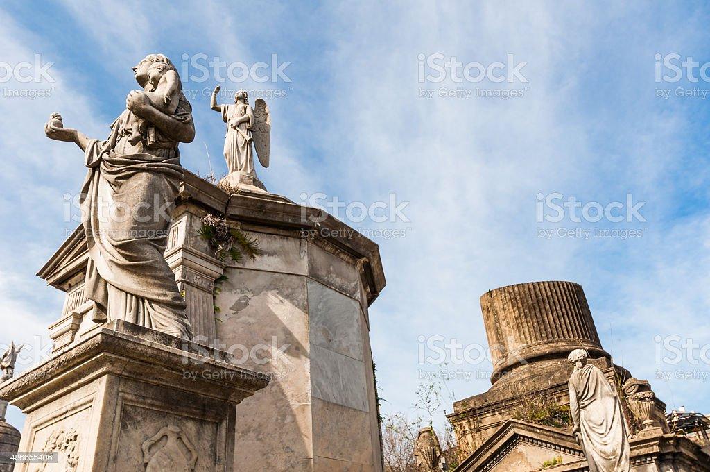 Mausoleum at Cementerio de La Recoleta Buenos Aires, Agentina stock photo
