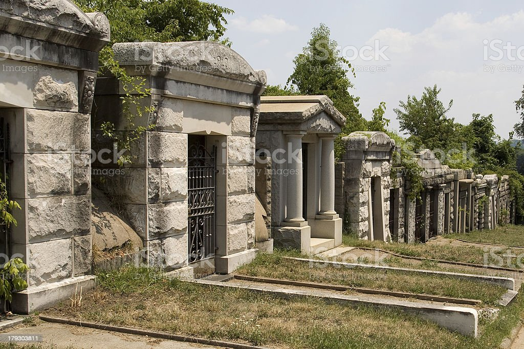 Mausoleum at Congressional Cemetery stock photo