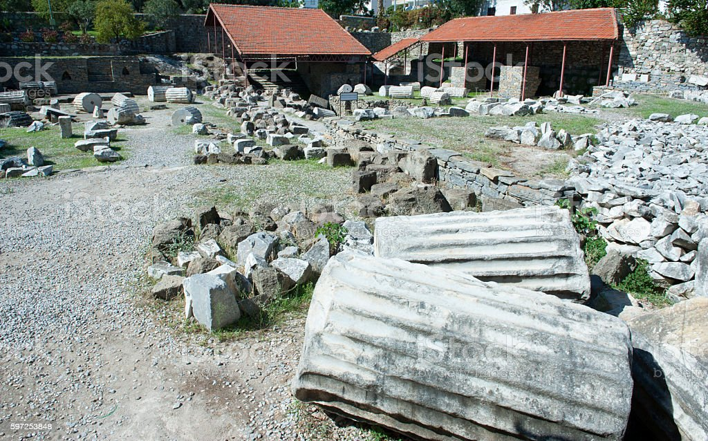 Mausoleum at Halicarnassus, Bodrum, Turkey stock photo