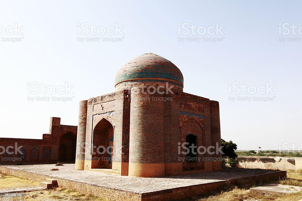 Mausoleum at Makli Hills, Indus stock photo