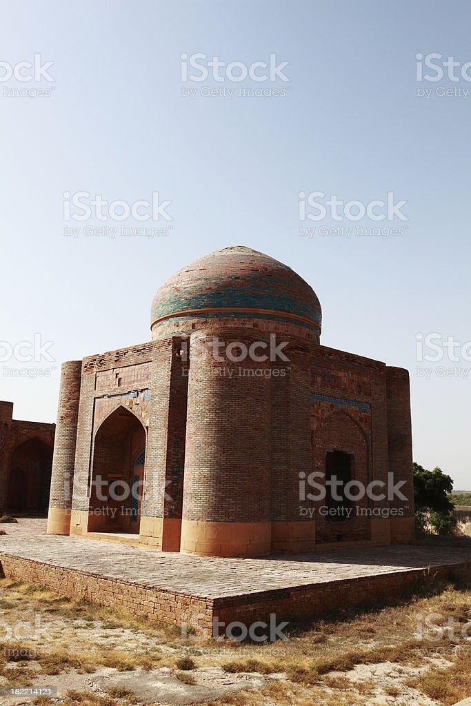 Mausoleum at Makli Hills stock photo