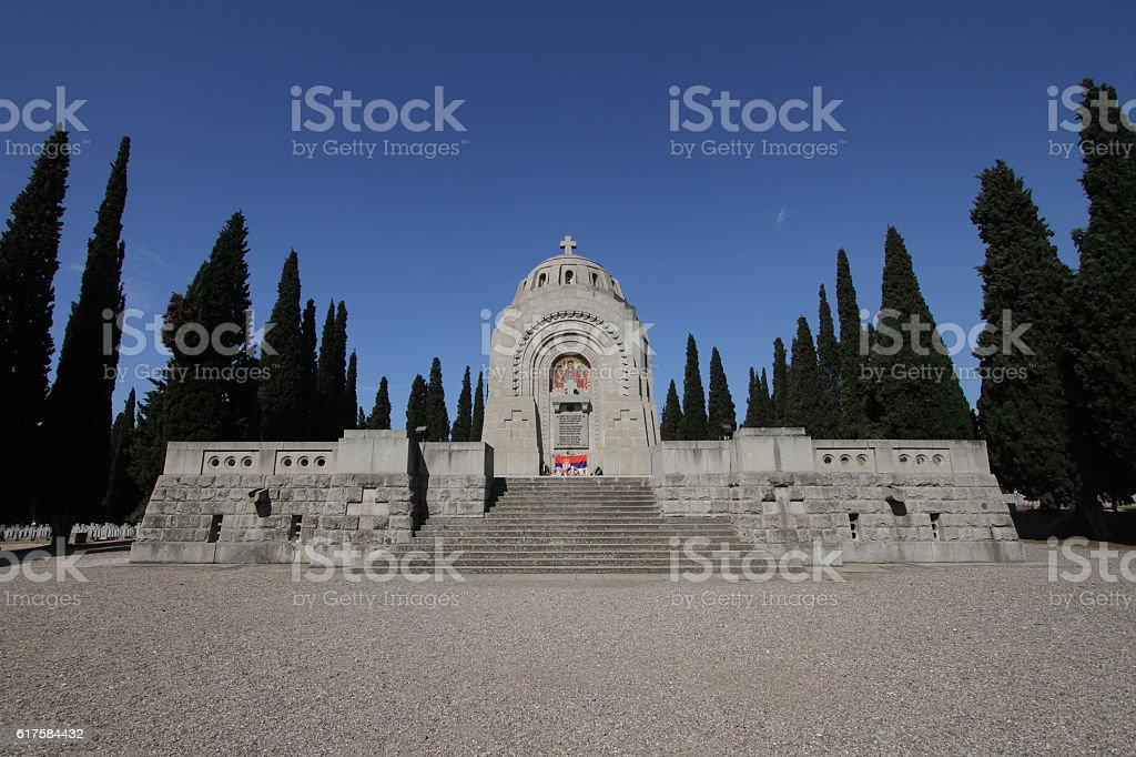 Mausoleum at Zeitenlik, WW1 cemetery in Thessaloniki stock photo