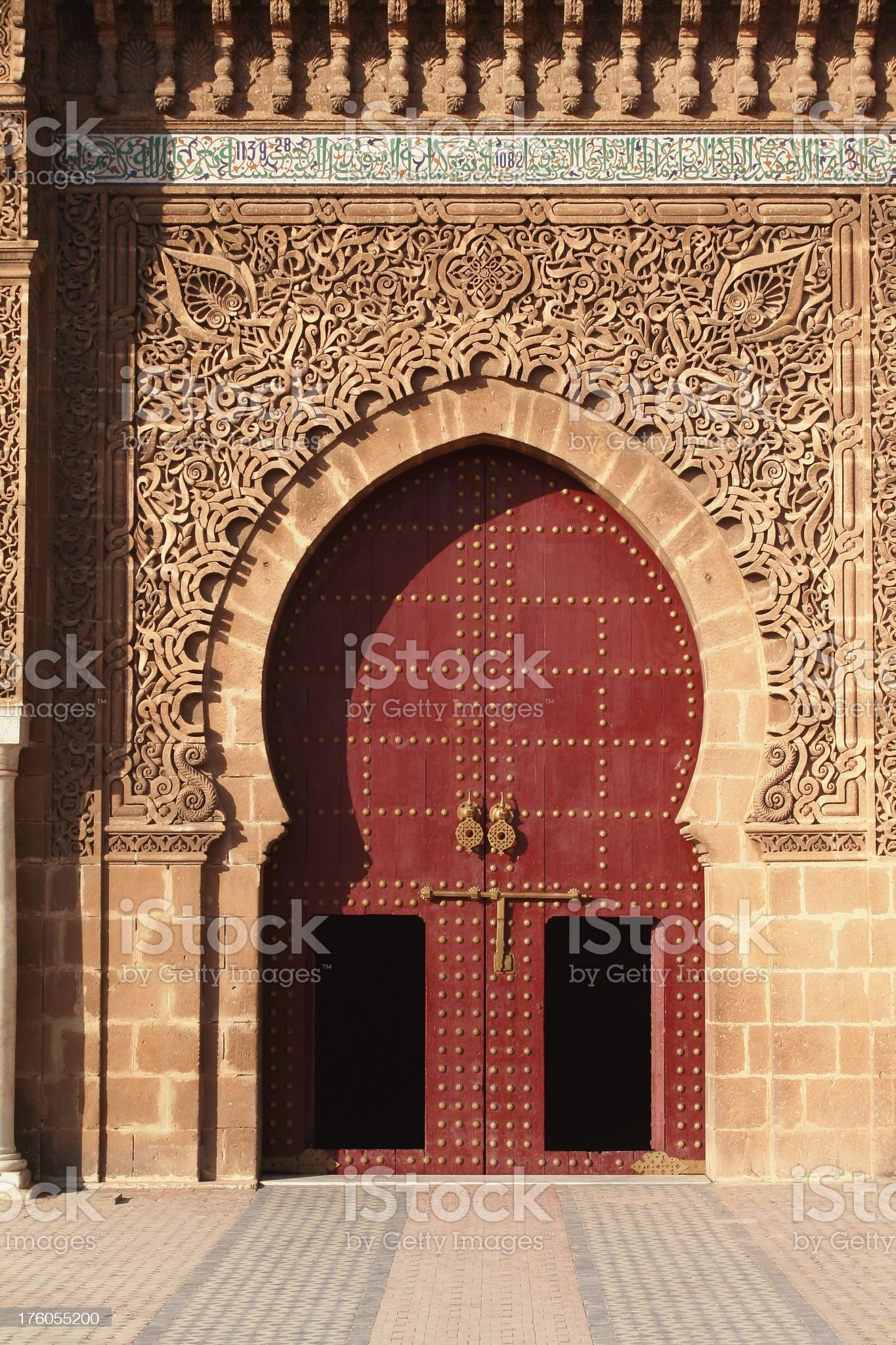 Mausoleum door royalty-free stock photo