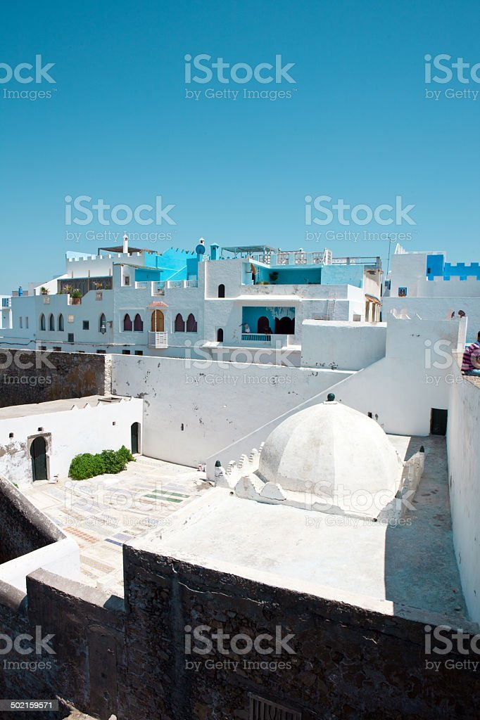 Mausoleum in Old Medina of Asilah - Morocco royalty-free stock photo