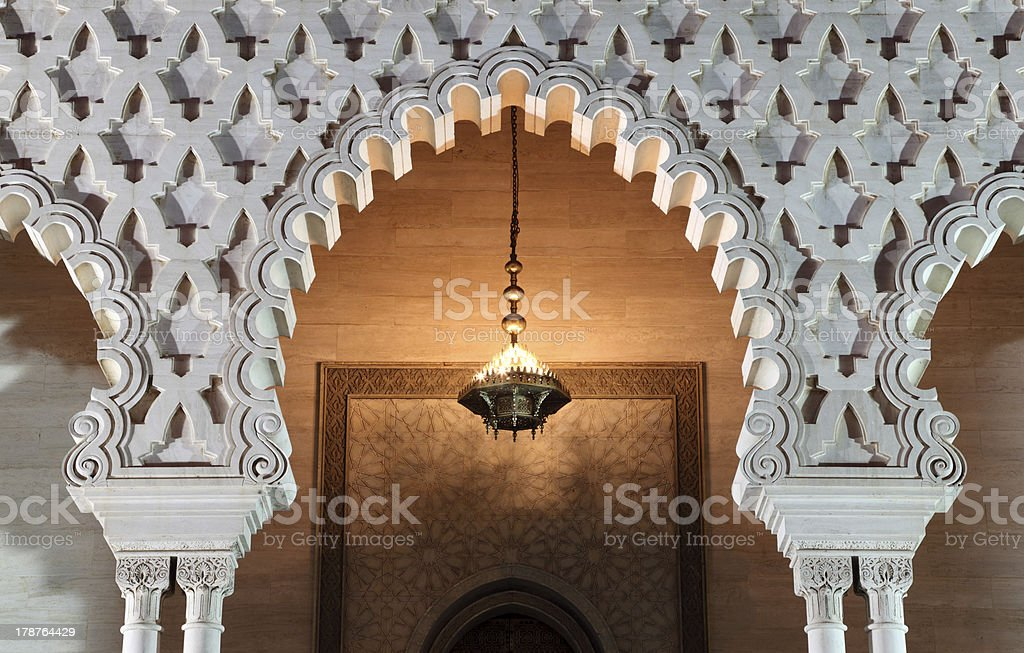 Mausoleum in Rabat, Morocco royalty-free stock photo