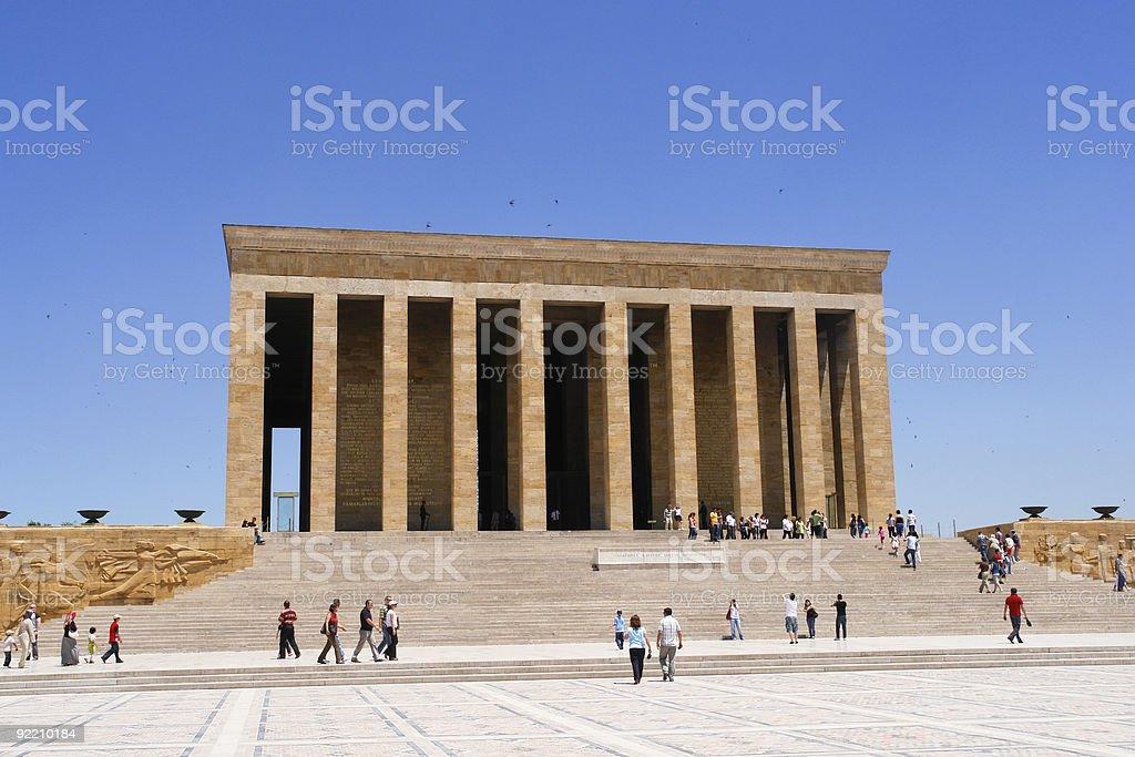Mausoleum of Ataturk in Ankara, Turkey on a clear day stock photo