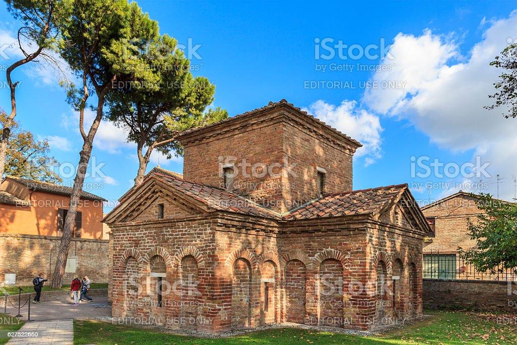 Mausoleum of Galla Placidia, Ravenna stock photo