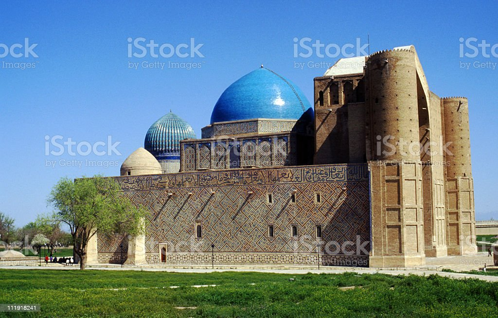 Mausoleum of Khoja Ahmed Yasavi, Kazakhstan royalty-free stock photo