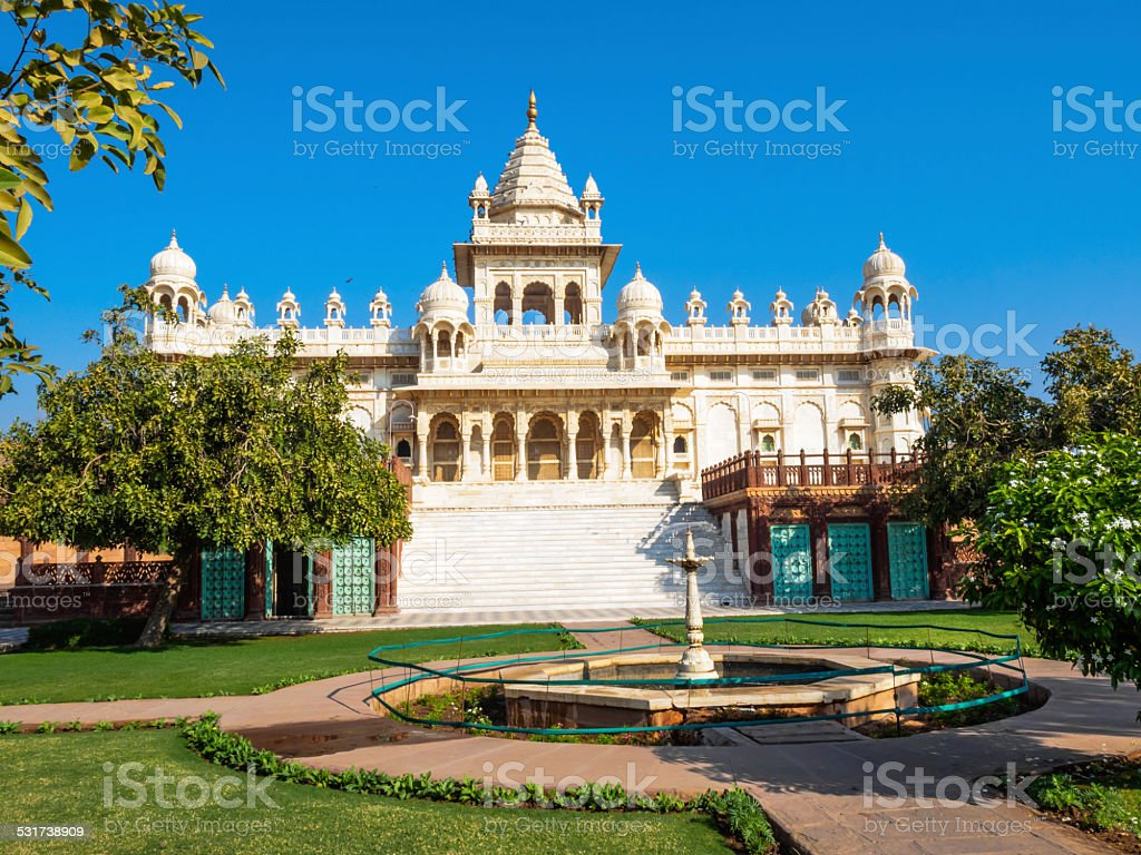 Mausoleum of Maharaja Jaswant Sing II stock photo