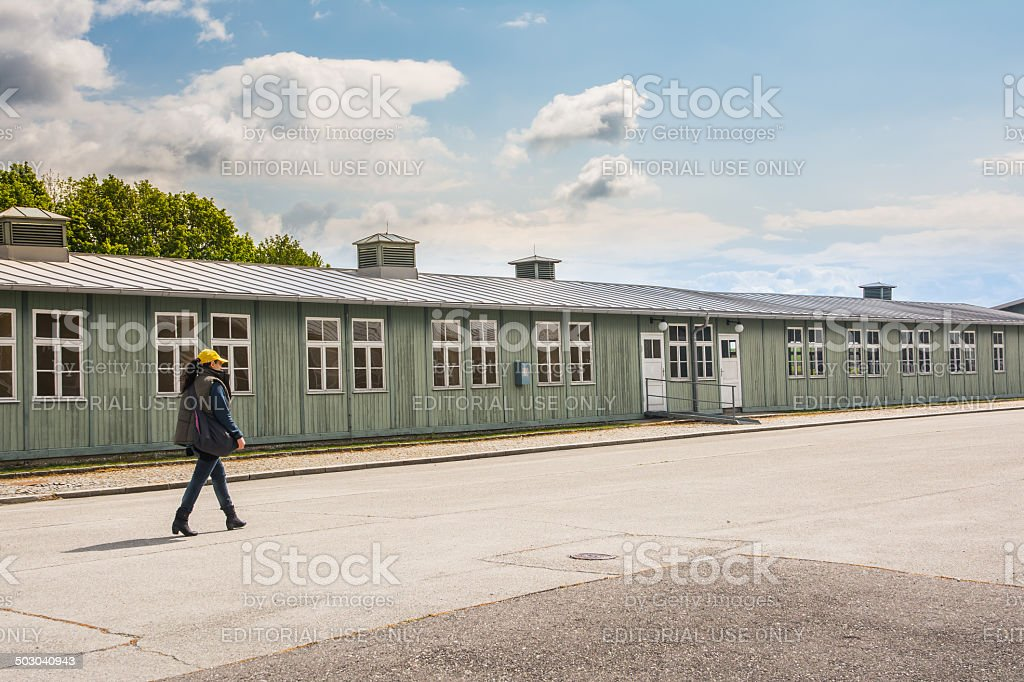 Mauthausen camp stock photo