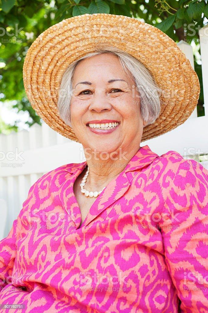 Mautre Asian Woman royalty-free stock photo