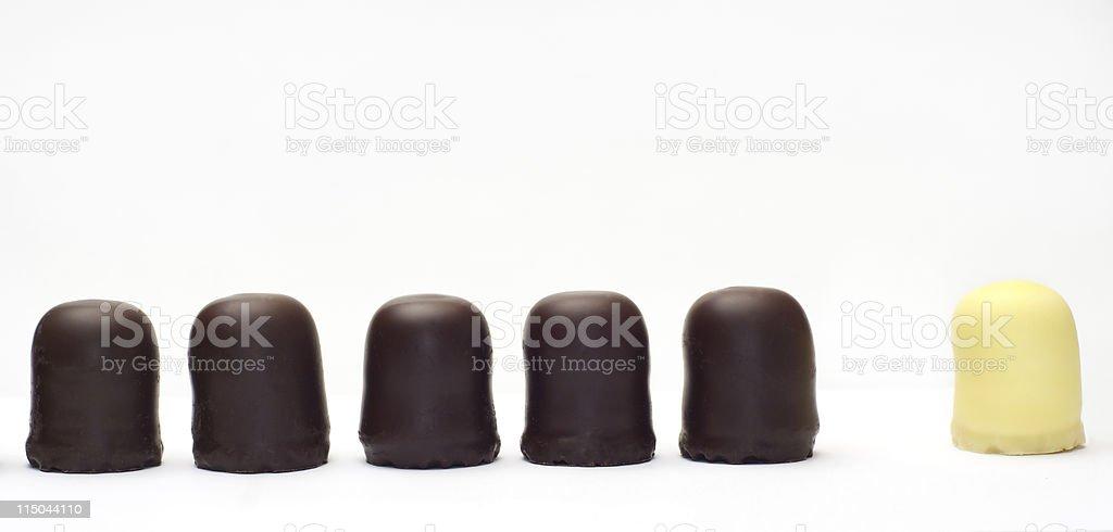 Maverick chocolate covered cream cake royalty-free stock photo