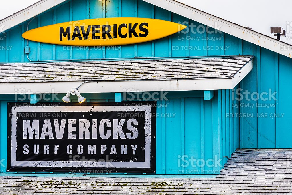 Mavericks Surf Shop stock photo